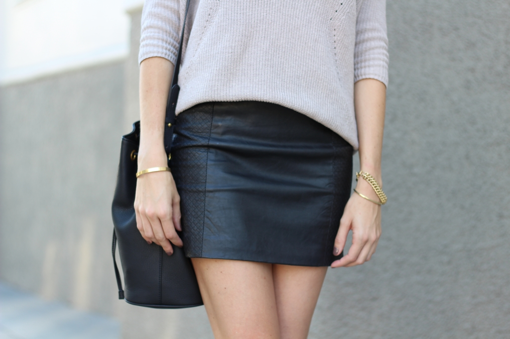 Black Leather Mini Skirt I Adorned With Love