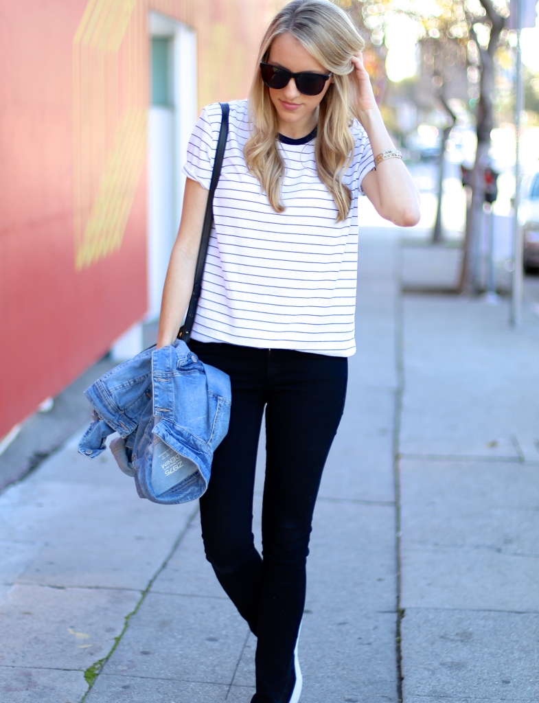 Striped Tee I Adorned With Love
