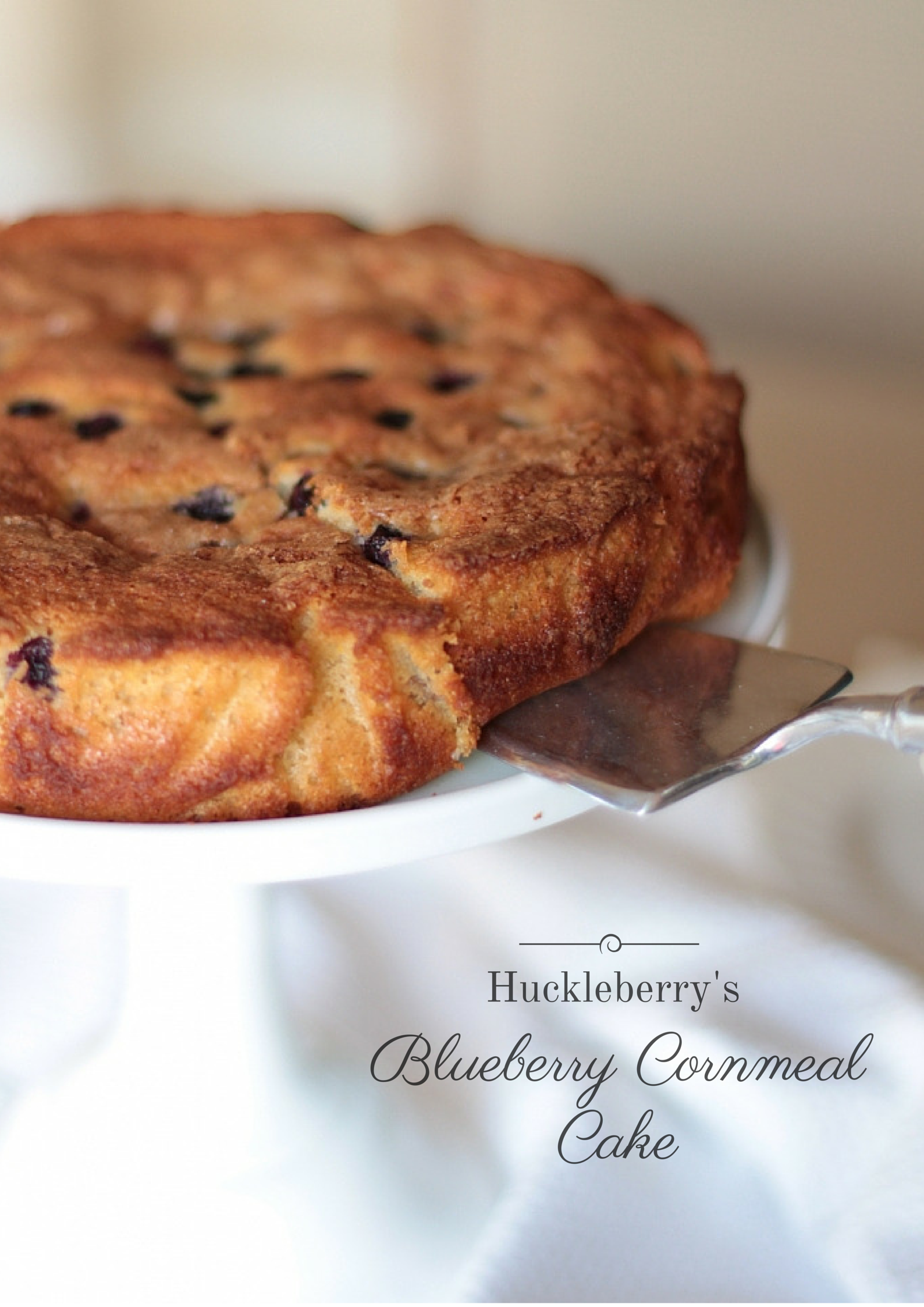 Huckleberry's Blueberry Cornmeal Cake I Adorned With Love