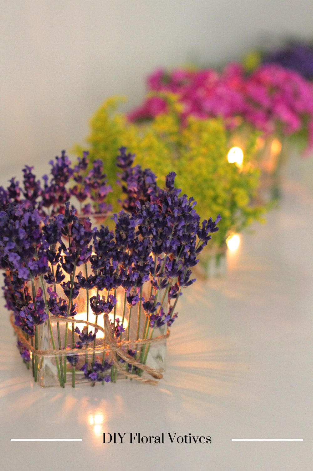 DIY Floral Votives I Adorned With Love