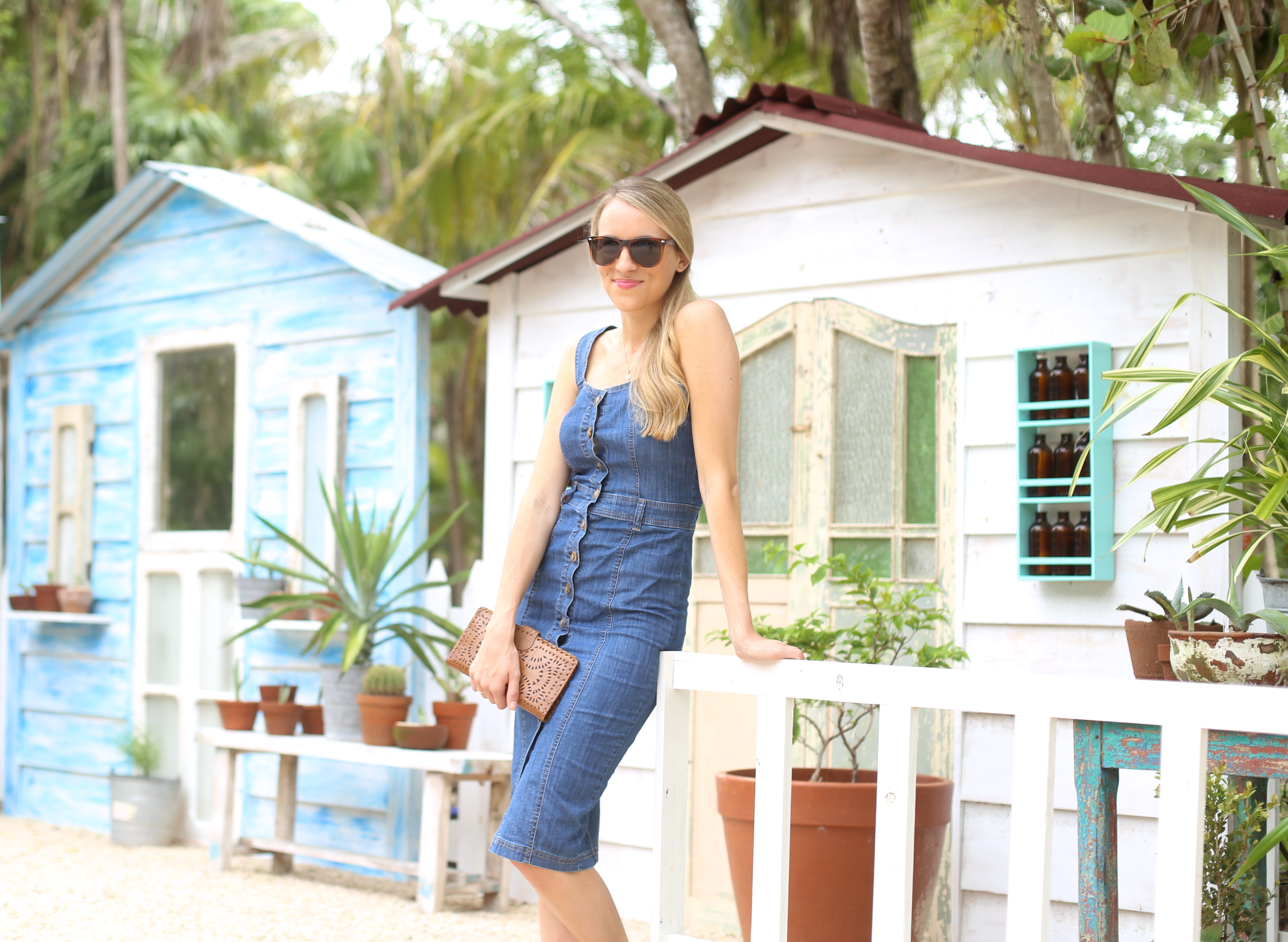 Button-down Denim Dress I Adorned With Love