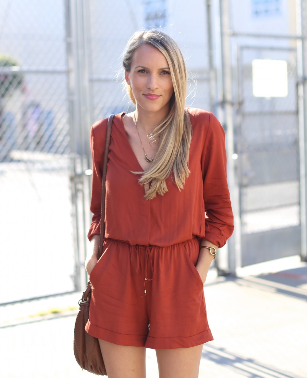 Orange romper I Adorned With Love