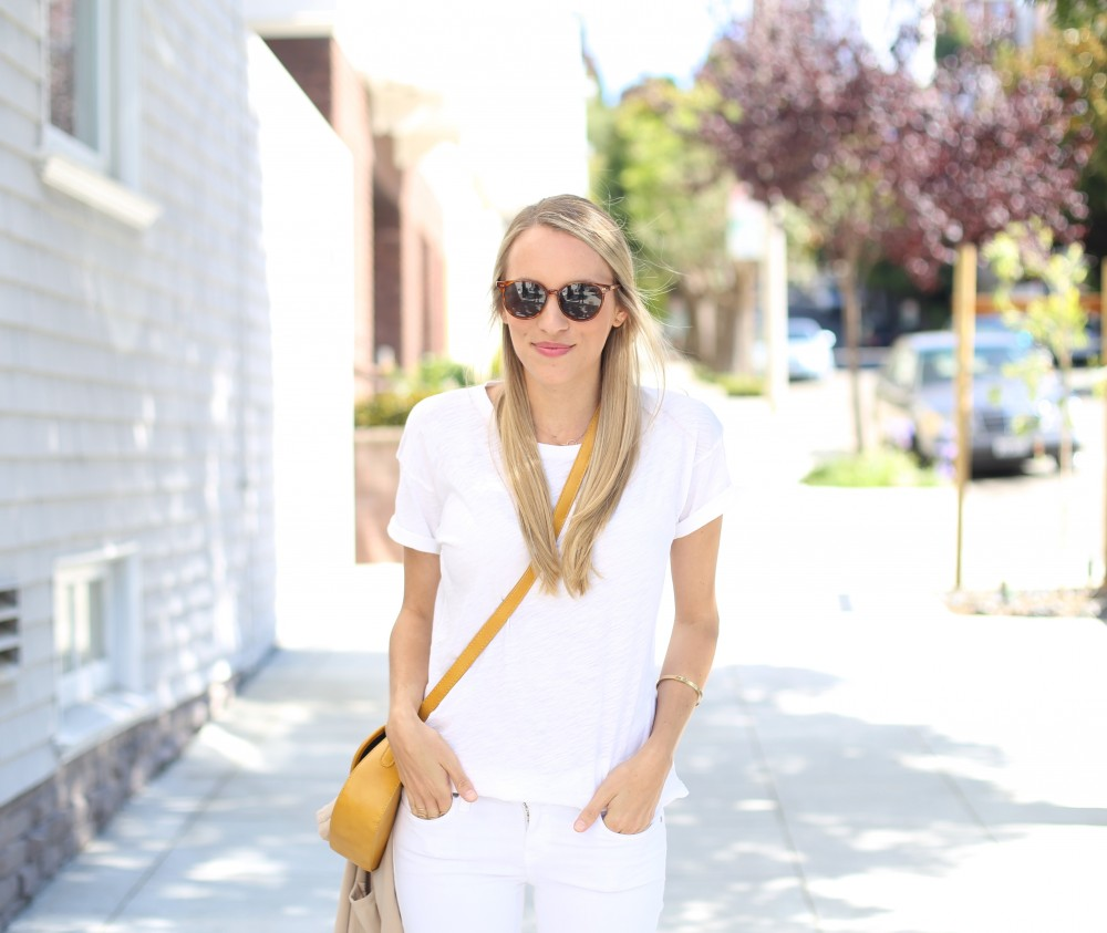 White on white outfit I Adorned With Love