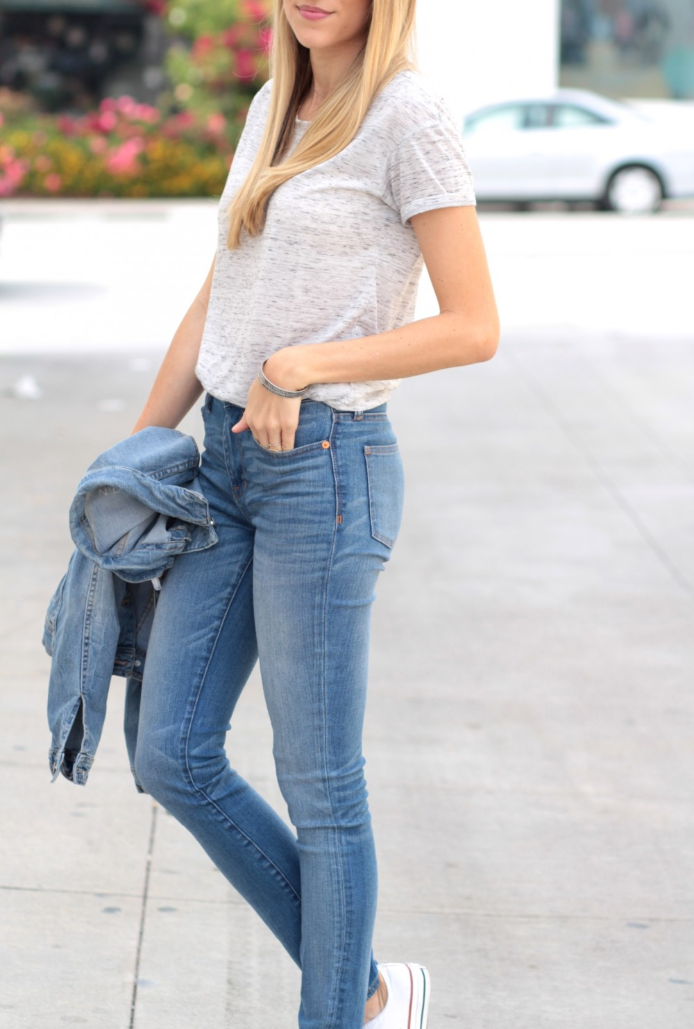 Bella Luxx tee + high waisted Madewell jeans   Adorned With Love