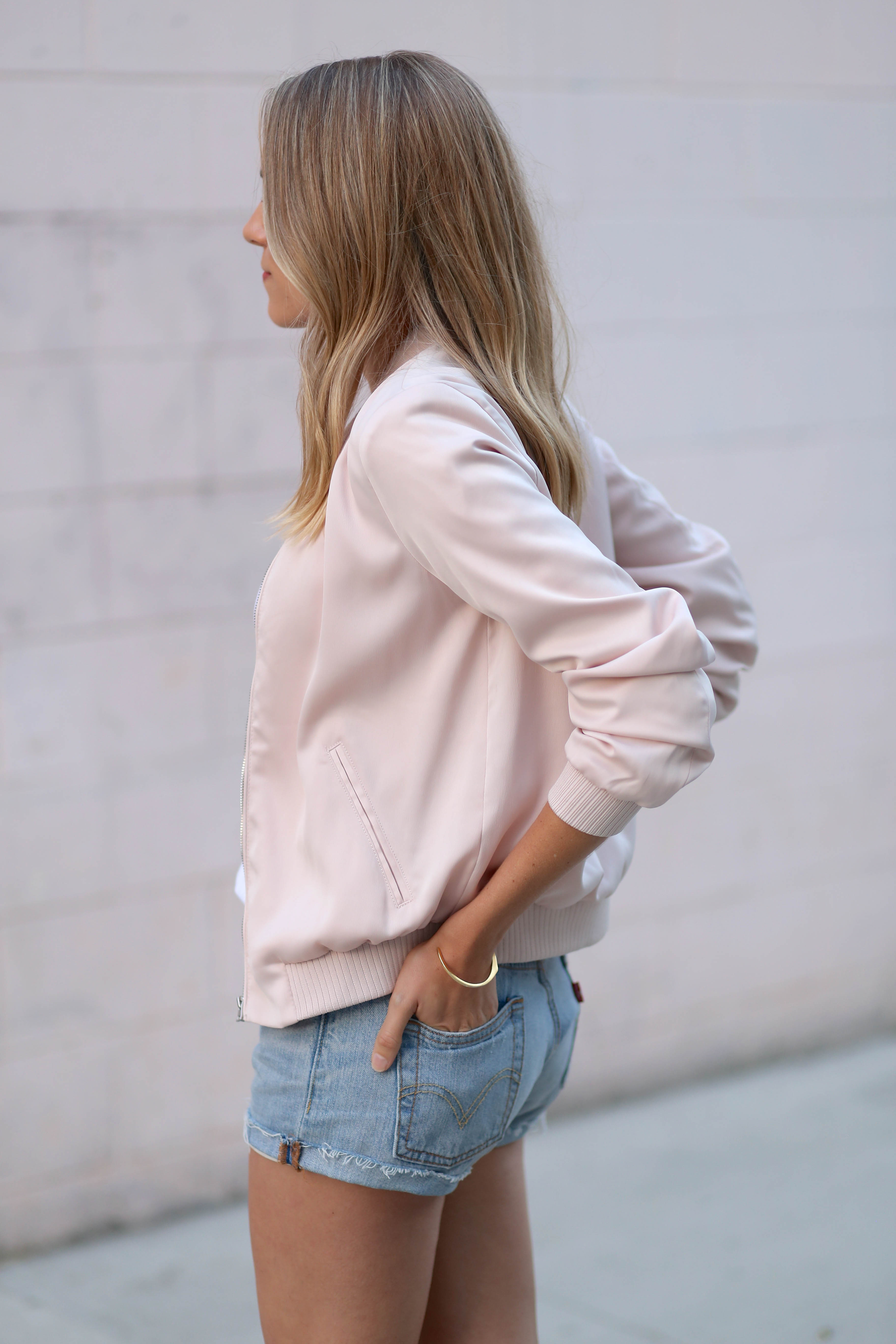 Pink bomber jacket   Adorned With Love