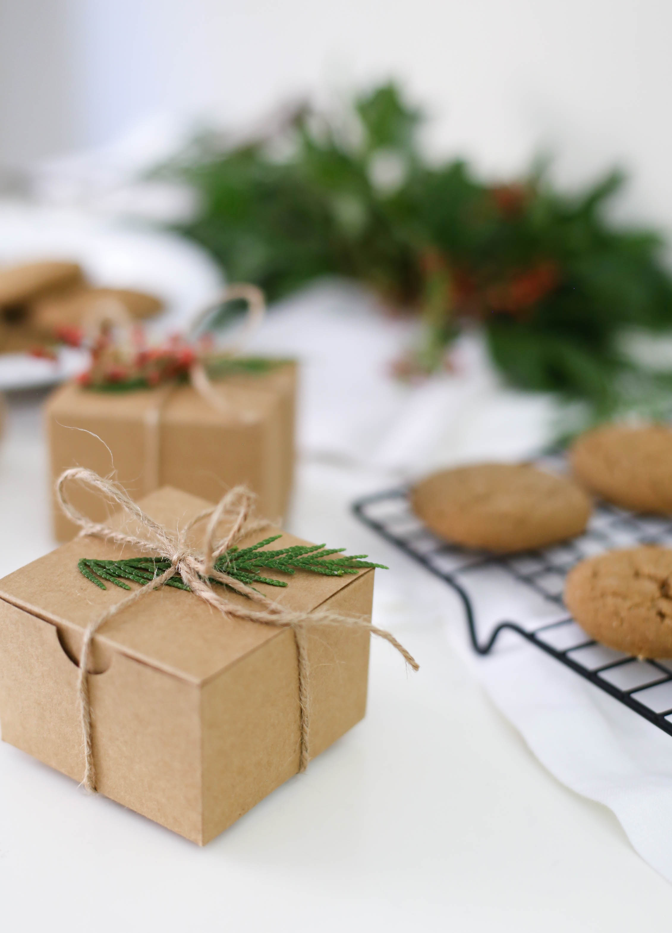 Soft baked gingersnap cookies - the perfect homemade gift for the holidays | Adorned With Love